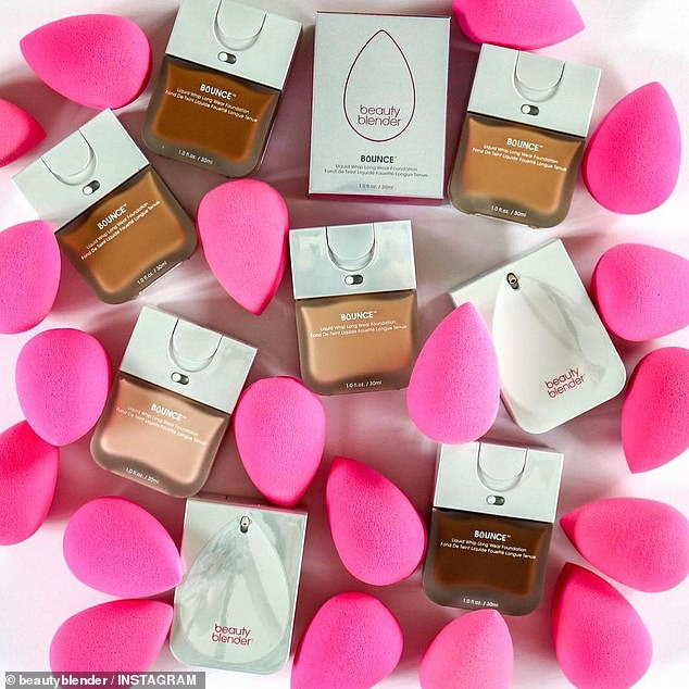 For the last few years shoppers have been raving about the much-loved egg-shaped Beautyblender for its ability to apply liquid foundation, powder and primer onto the skin without absorbing the product (pictured)
