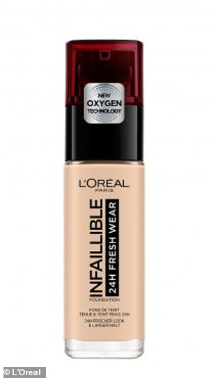 'First and favourite product I'm wearing right now is this L'Oreal Foundation – it is incredible!' she said in the video