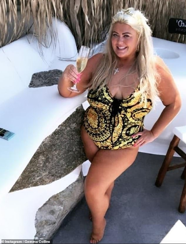 Trim: 'I believe that all bodies are beautiful, but if you want to make a change its really powerful to do it from a health-first perspective', Gemma said (pictured over summer)