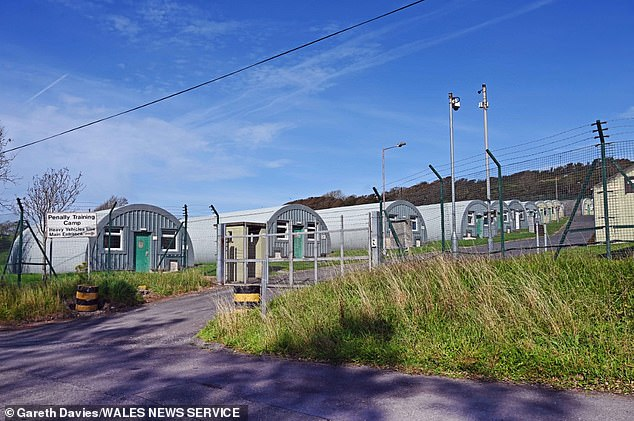 The penal training camp in Wales could be used to house 250 refugees, who have crossed the Channel, while their asylum claims are processed