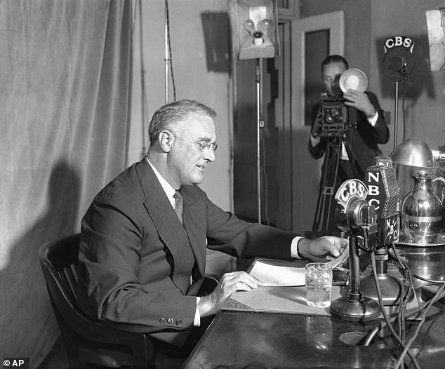 President Trump also quoted FDR's famous line:the only thing we have to fear is fear itself