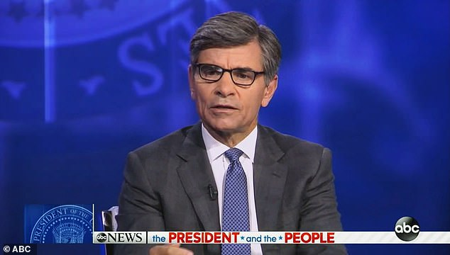 Host George Stephanopoulos challenged Trump on his administration's legal efforts to throw out Obamacare and his claim last year that he would produce a health care plan