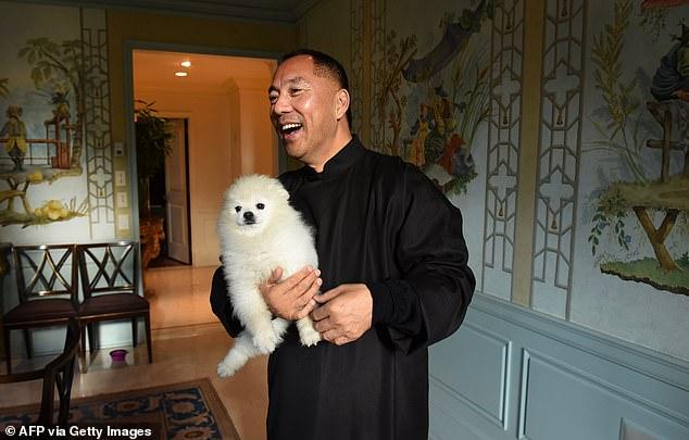 Billionaire Guo Wengui poses at his New York City apartment on November 28, 2017