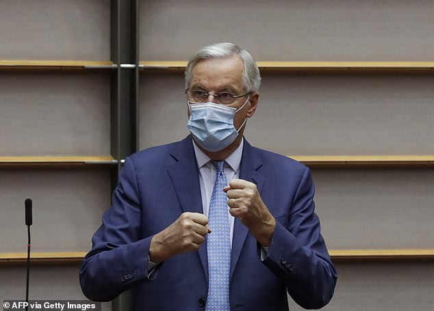 Michel Barnier, the EU's chief negotiator, is said to have told European ambassadors that Mr Johnson sparked the latest Brexit row in order to distract from the Government's coronavirus chaos