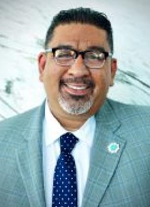Lynwood city manager Jose Ometeotl (pictured) has been placed on leave after controversial comments on Instagram