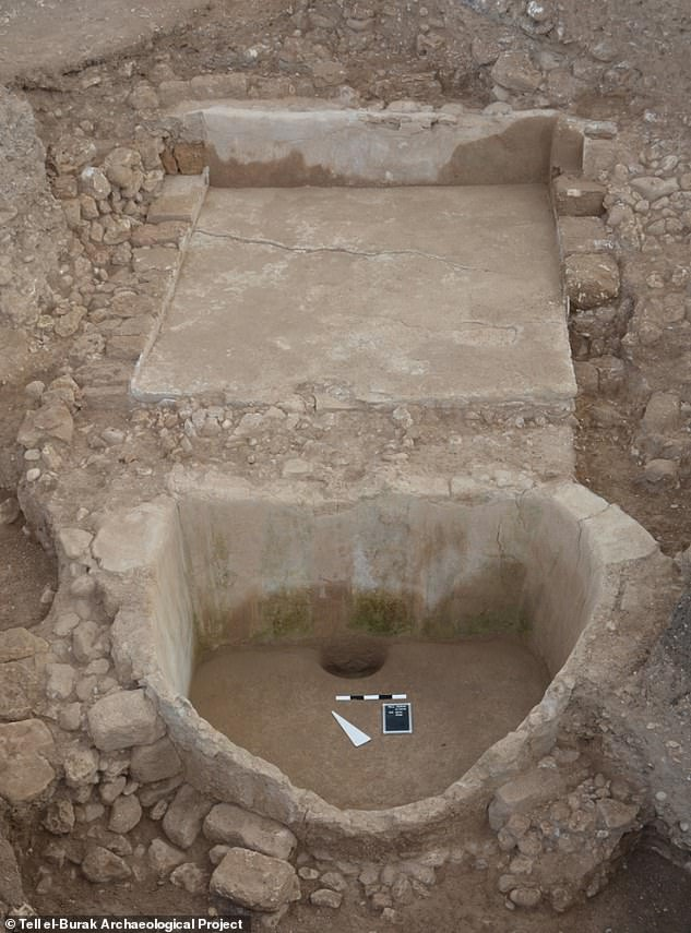 Remains of the wine press today.The well-preserved press also reveals the Phoenicians constructed it from plaster made by mixing lime and recycled ceramics, making it easier to build and stronger