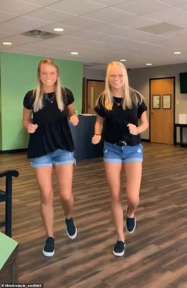 Stacie insisted that despite what viewers say, she doesn't believe she looks like her daughter's twin (pictured, in another dancing video)