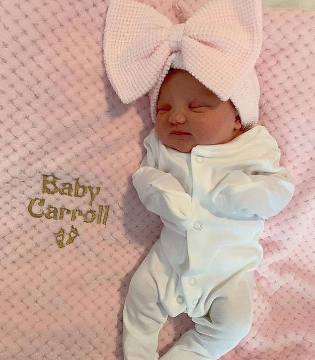 Baby news!Billi Mucklow has welcomed her third child with fiancé Andy Carroll