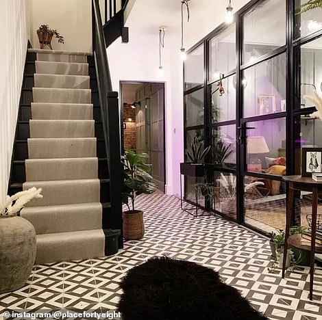 Rather than simply adding an extension to the property, Katy transformed the entire interior, ripping out the dated and drab decor and adding splashes of colour and personality (after)