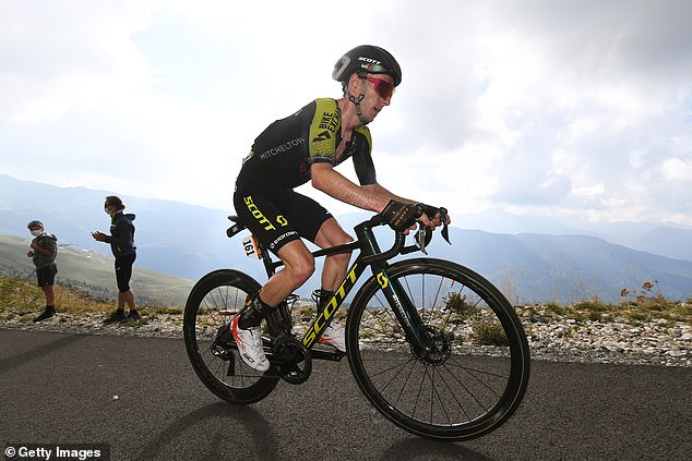 Adam Yates lost time on the last climb but maintained his position in fifth overall