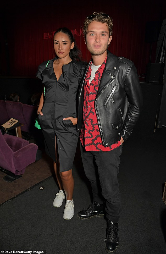 Co-star: Rafferty was pictured with his Contact co-star Cora Corre