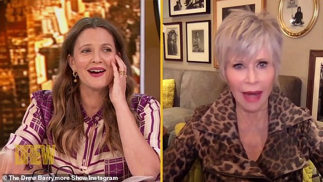 Jane won't date either:But when Drew said she is not up for romance, Jane shot back: 'You're too young to swear off anything, you have to say open to anything, I am too old so it's very easy to swear off men'