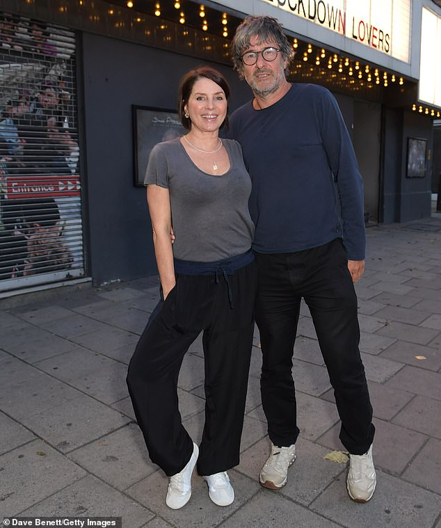 Pose: At the screening, Sadie posed for photos with Everyman Media Group chairman Paul Wise (pictured) and boyfriend Jess Morris from cult fashion label Rockins