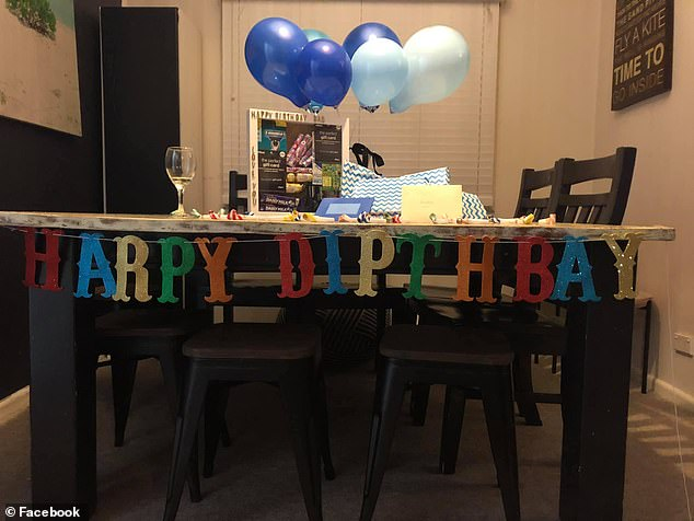 The mother shared an image of her faulty decoration on Facebook, blaming the discount retailer for spelling 'Happy Birthday' incorrectly on her husband's special day