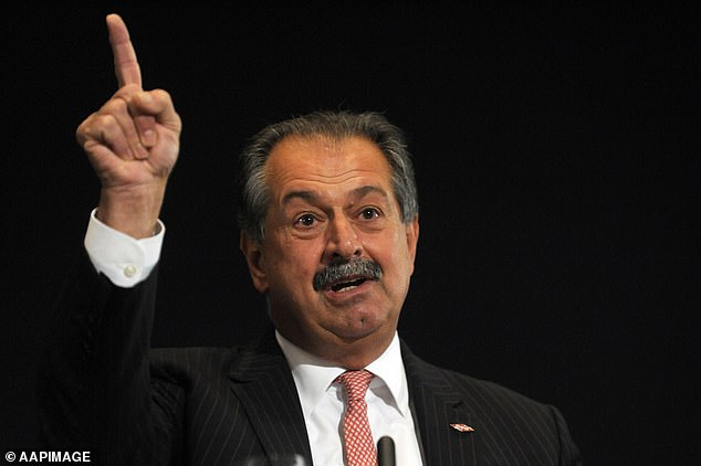 Morrison government adviser Andrew Liveris (pictured) said encouraged the government to remember saving face mattered in China and 'you don't want to embarrass cultures'