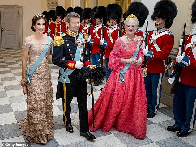Crown Princess Mary of Denmark (left) has been given the right to act as regent in place of her mother-in-law Queen Margrethe (right) when the monarch is otherwise engaged