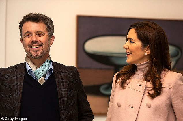 Mary has mastered diplomacy and regal decorum throughout her marriage to Prince Frederik (the two are pictured at an art gallery in Odense, Denmark on November 2, 2019)