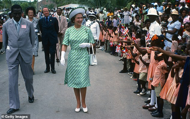 Moving on: On Wednesday, the Caribbean island's government announced plans to becoming a republic by November 2021. The Queen is pictured in Barbados in 1977