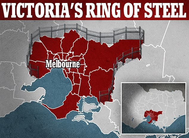 Daniel Andrews has effectively set up a 'ring of steel' around Melbourne to stop residents heading to regional Victoria