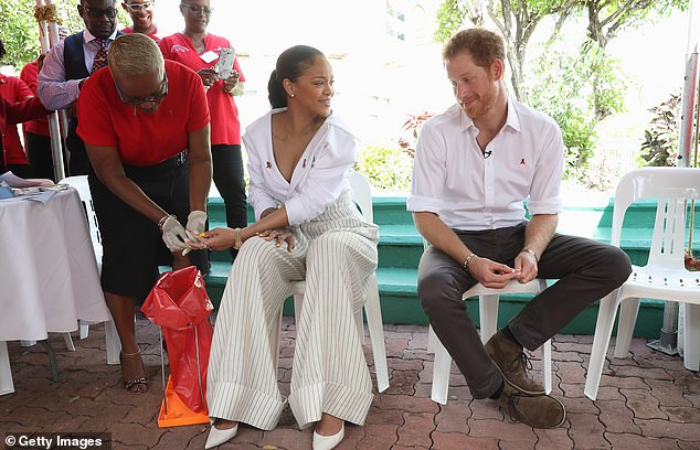 World colliding: Rihanna was in Barbados with Prince Harry in 2019