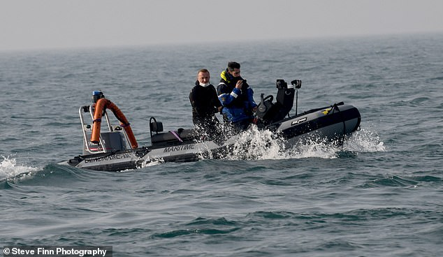 Just checking: The French RIB speeds towards the migrants as they sail through French waters