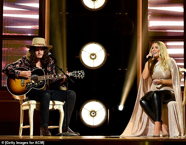 What a team:Gabby Barrett hit the stage with her husband Cade Foehner for a performance at the ACM Awards in Nashville