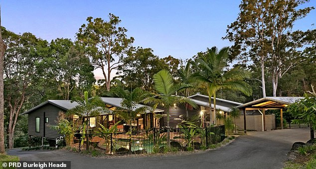 The Gold Coast hinterland area was also popular with potential buyers, with serious searches in Mudgeeraba and Tallebudgera (house pictured) soaring by 44.3 per cent in just four weeks - significantly above nearby greater Brisbane's 1.4 per cent increase. Committed searches have soared by 172.7 per cent since the start of the coronavirus crisis six months ago