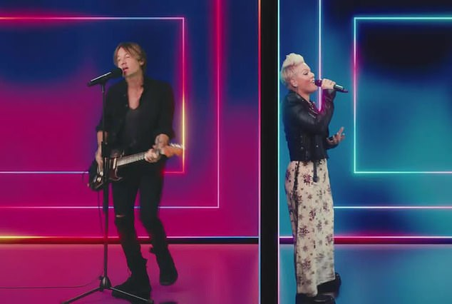 'I spend all my money drinking on my own, yeah / In this bar, I'm just sitting here looking at my phone / And I keep guessing, where did I go wrong?'  the artists performed virtually at the song's world premiere on television