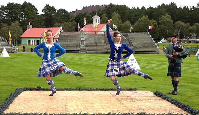 Dancers compete in another event that was filmed and later broadcast via Facebook