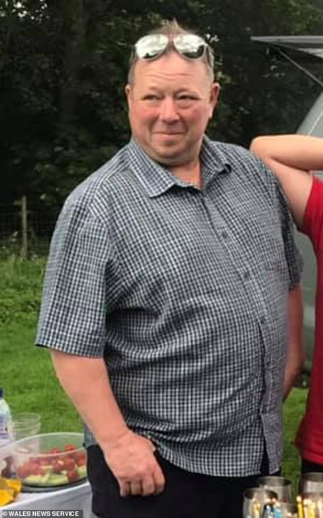 Father-of-five Alun Lewis, 54, wanted extra room at his farmhouse to look after his 79-year-old mother after she suffered a stroke but has now been told to tear down the £15,000 extension