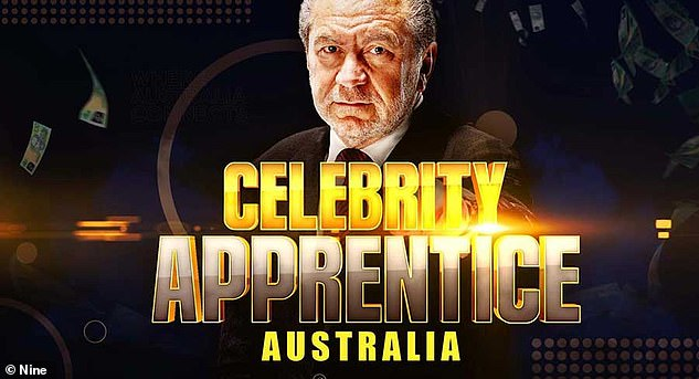 Coming soon: The couple's arrival Down Under comes as Lord Sugar prepares to begin filming Channel Nine's Celebrity Apprentice