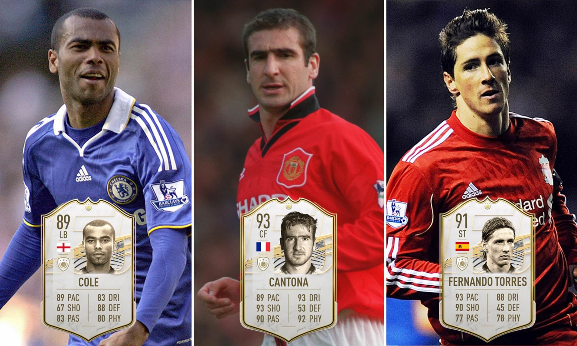 The french striker and manchester united. Fifa 21 Ratings For Icons Eric Cantona Ashley Cole And More Revealed Daily Mail Online