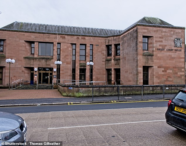 While speaking at Kilmarnock Sheriff Court, pictured, one of the witnesses said Motroni would act as if he was trying to straighten the boy's clothes out by putting his hand in the waistband and running it round the inside