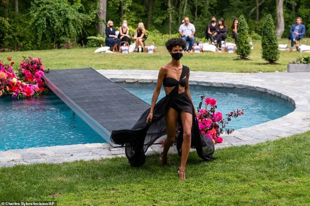 Exterior view: The fashion show had 80 attendees who according to WWD were socially distracted on lawn chairs on the grass with picnics.