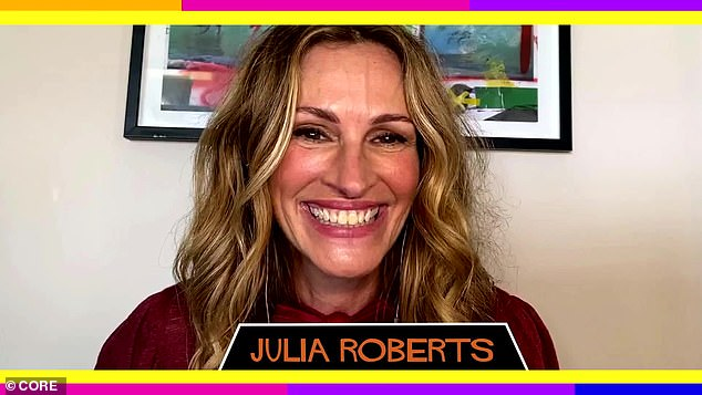 America's sweetheart: Julia as 15-year-old high school sophomore Stacy showed her acting ability as she flirted with Mark 'Rat' Ratner, played by Dane Cook