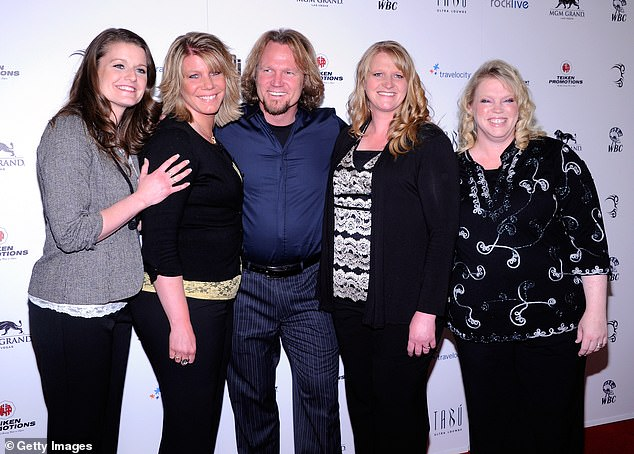 Reality world: Sister Wives, which premiered on TLC in September 2010, follows the polygamous lifestyle of Kody Brown and his four spouses: Robyn, Meri, Christine and Janelle: they are pictured together in Las Vegas in April 2012