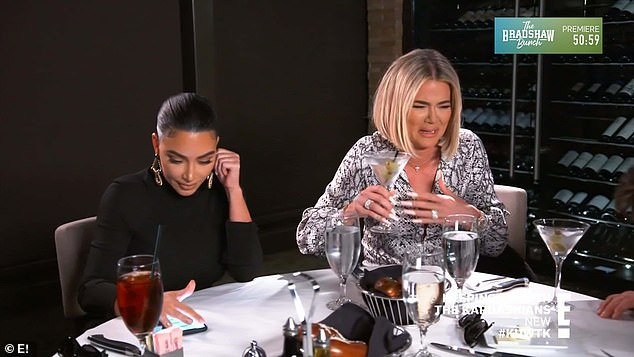 Success:After swinging back a plethora of mixed drinks, Kris gets undeniably tipsy, which prompts Kim and Khloe to celebrate a job well done