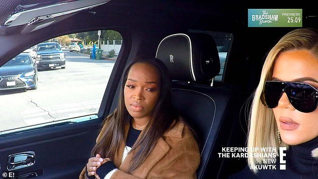 Take two:Once Khloe and Khadijah left the restaurant they were eating at, the pair returned to Khloe's car and redialed Malika