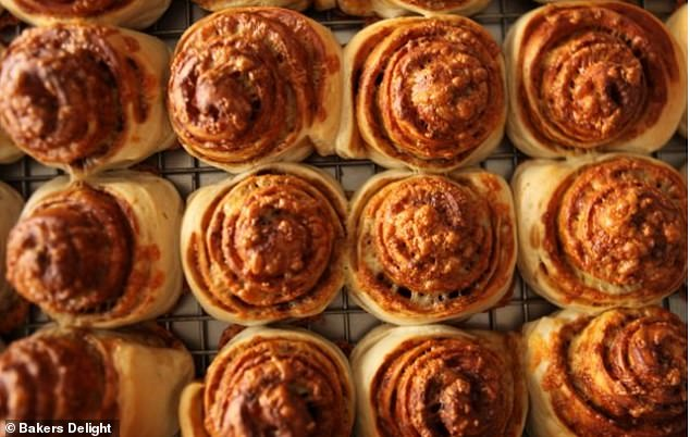 To celebrate its 40th birthday, the iconic bakery chain will hand out 40,000 of its most-loved signature pastries (pictured) to customers across Australia