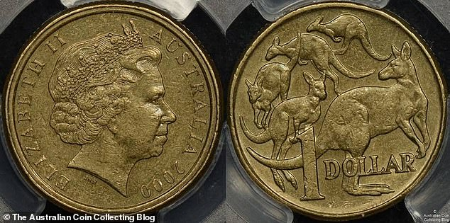 While the mistake on the $1 coin might be missed at first glance, the error is obvious when pointed out - the head side was stamped with a 10c piece mold resulting in a double-edge