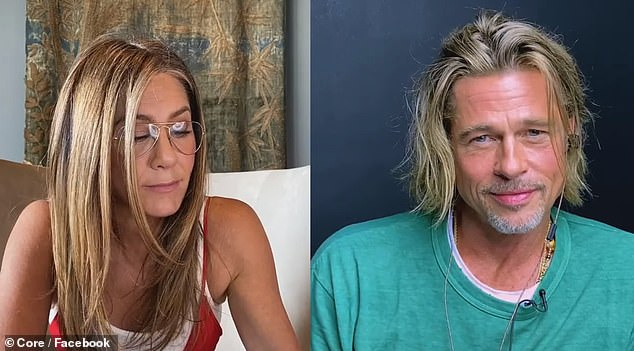 Reunited!Brad Pitt and Jennifer Aniston reunited onscreen for the first time in decades on Thursday with a risqué scene during a star-studded table read of 1982 movie Fast Times At Ridgemont High