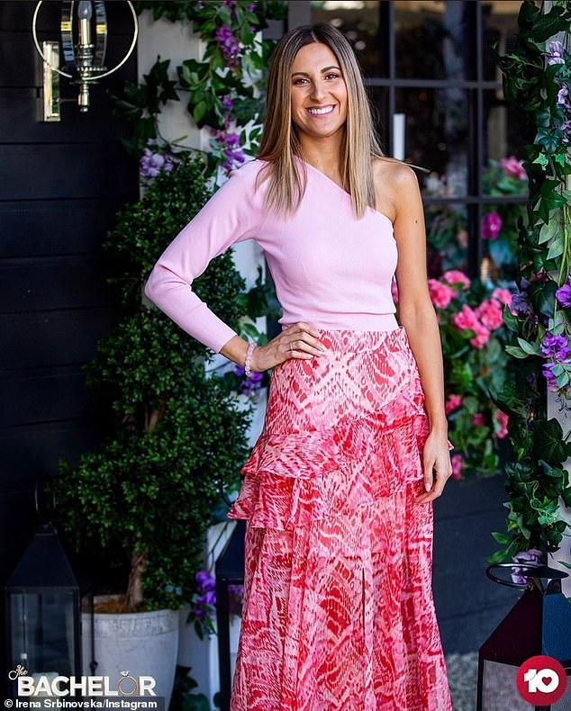 Top chef:Irena Srbinovska (pictured) is the frontrunner to win Locky Gilbert's heart on the latest season of The Bachelor. And it seems the Melbourne nurse isn't yet done with reality TV, telling The Wash this week that she has her sights set on MasterChef