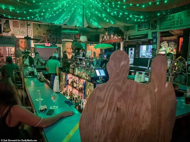 It's an unusual scene for the destination island city, especially after Key West bars were among the ones in Florida allowed to reopen on Monday, as some venues stayed shut since June after the state banned alcohol consumption at bars due to the spread of COVID-19
