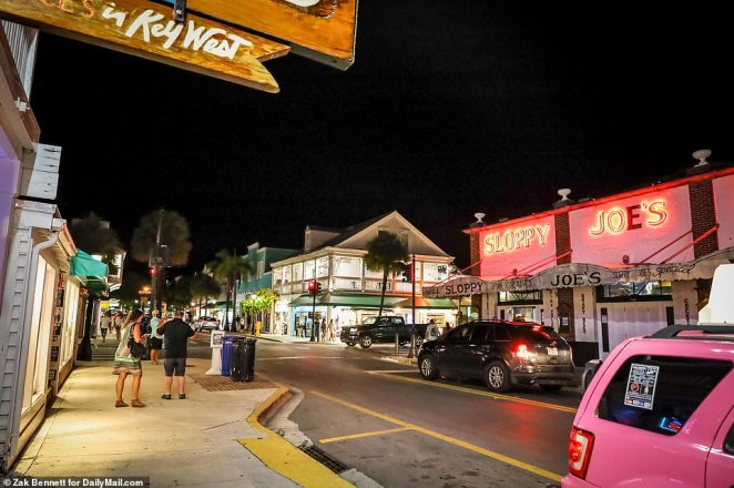 Duval Street is seen rather mellow as Key West bars were among the ones in Florida that were allowed to reopen Monday