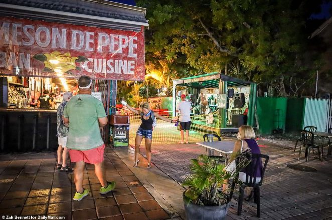 A band plays with social distance and no dancing at El Meson De Pepe's Restaurant & Bar