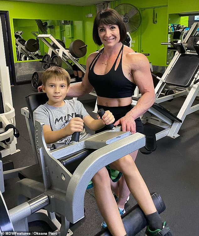 Part of their live:'Bodybuilding holds and unites our family because we are looking in the same direction and are focused on a united goal,' she said