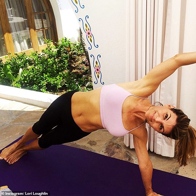 She can continue her practice: The 'sattelite camp' in Victorville, California also offers yoga and pilates sessions