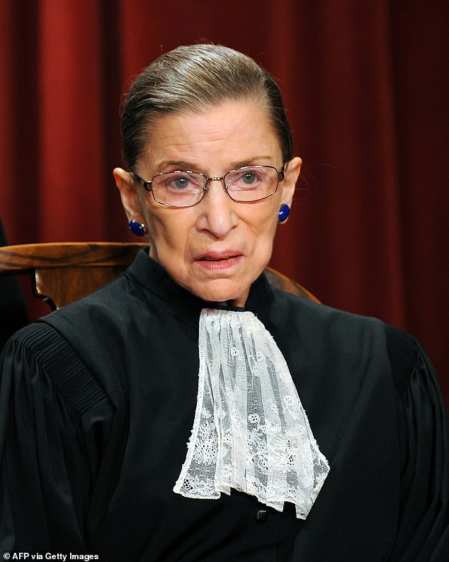 Icon: Ginsburg (pictured) died Friday evening in Washington D.C. after a long battle withmetastatic pancreatic cancer