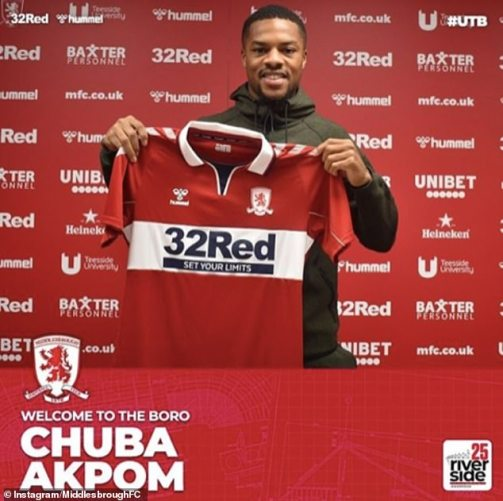 Middlesbrough sign former Arsenal forward Chuba Akpom in £2.75m deal |  Daily Mail Online