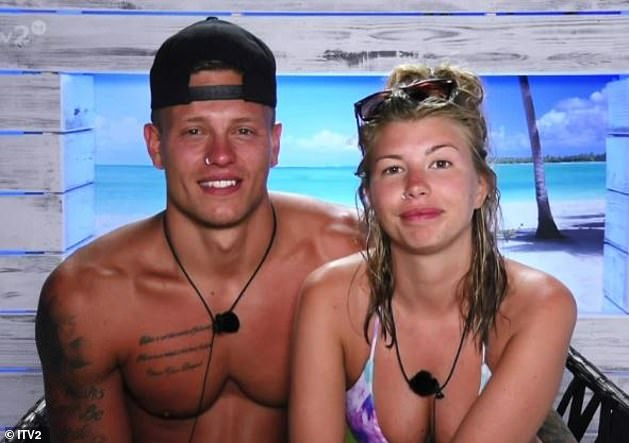 Impressive: Their relationship has gone the distance after they first got together in 2016, and theirs is one of the few Love Island romances that have not fizzled out (pictured on the show)
